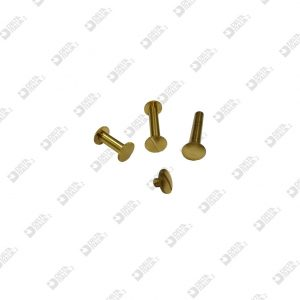 4115 REGISTER SCREW D. 10 STICK 5X5 M 4 BRASS (VARIOUS LENGTHS)