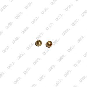 62808 SPHERE 5 BLIND HOLE MM 1,5 BRASS