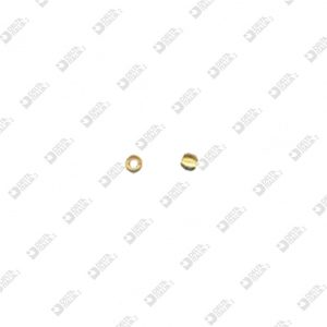 63631 SPHERE D. 2 PASSING HOLE MM 1 BRASS