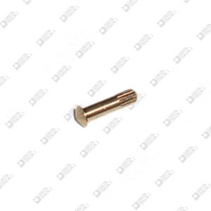 63763/1 PIN 3X8 STICK WITH KNURL D. 2 BRASS