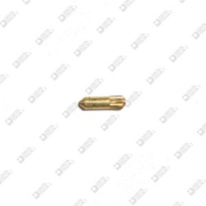 63863/5 PIN 1,65X 5 WITH LONG ENTRANCE AND CHAMFER ON KNURL BRASS / ECOBRASS