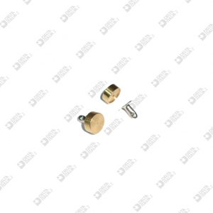 62124 ORNAMENT 9X3,5 WITH SEAT 8X0,5 MM BRASS