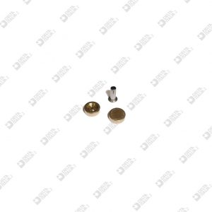 64425/5,2 ORNAMENT 8X3 WITH SEAT MM 5,2X1 BRASS