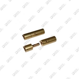 64100/F FEMALE  PIN FOR CLOSURE  8X20 WITH TRANSVERSAL THREAD BRASS