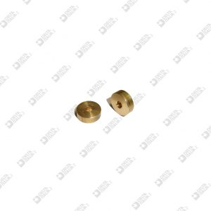 62514 SPACER 12X4 HOLE 3,5 MM BRASS