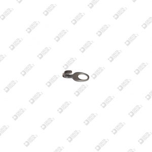 64462 HOOK 16,5X7,5 MM WITH HOLE IRON