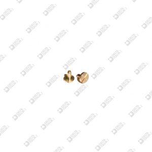 10899/M MASCHIO 7X7,3 GAMBO 2,45X6 TAGLIO CACCIAVITE OTTONE