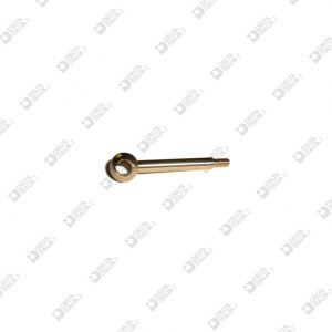 63474 PIN WITH SPHERE 9X38 PERFORATED HOLE 5,5 MM 3X5,5 BRASS