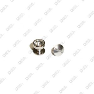 10699/F STUD 8X7,5 BALL 8 BRASS WITH STRASS AND SCREW
