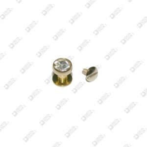 2312 STUD 10X12 BALL 10 BRASS WITH STRASS AND SCREW