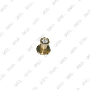 639160NF STUD FOR STRASS 9X9 BALL 6 NO THREAD BRASS