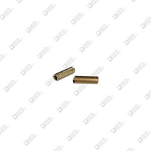 64834 KNURLED ROLLER 5X16 HOLE MM 3,4 BRASS
