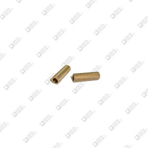 64839/20 KNURLED ROLLER 6X20 HOLE MM 4 BRASS