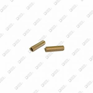 64839/22 KNURLED ROLLER 6X22 HOLE MM 4 BRASS