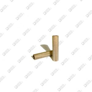 64840/29 KNURLED ROLLER 7X29 HOLE MM 5 BRASS