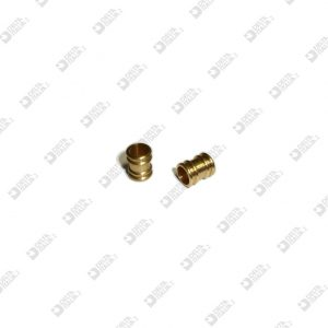 2433 TUBE 8X10 HOLE MM 6 WITH STRIPES BRASS