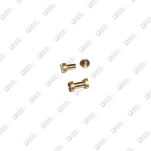 63541/62 MALE SCREW+FEMALE 6X8,5 STICK 3,5X6,2 BRASS