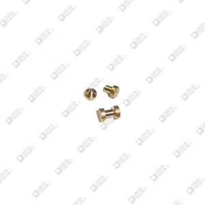 63571/45 MALE SCREW+FEMALE 6X6,3 STICK 3,5X4 M 2,6 BRASS