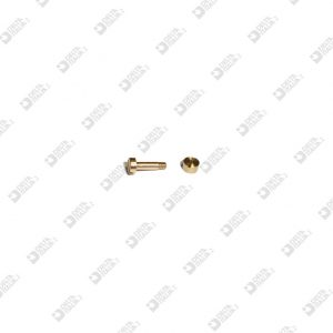 63833 SCREW DF 4X9,5 M 2X2 TC + FEMALE 63831 BRASS