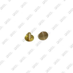 62615 SCREW D. 8X6,6 M 3X6 BRASS