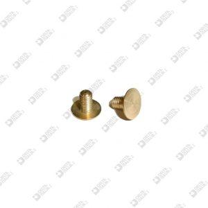 62937/5 VITE D. 7 M 3X5 TESTA PIATTA 0,3 OTTONE