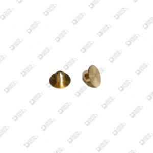 62937/3,5 VITE D. 7 M 3X3,5 TESTA PIATTA 0,3 OTTONE