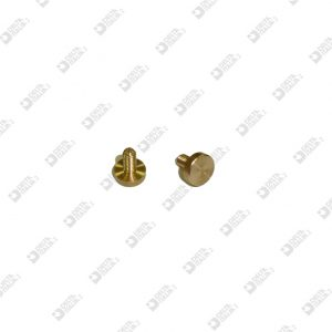 64850/6 SCREW D. 7 FLAT HEAD NO CUT M 3X 6 BRASS