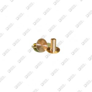 64917/6 SCREW D. 7 M 3X6 FLAT HEAD 0,4 BRASS