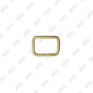 10877/25 RECTANGULAR RING 25X17 WIRE 3 MM BRASS
