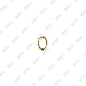 5134 OPEN OVAL RING 3X5 WIRE 1 MM BRASS