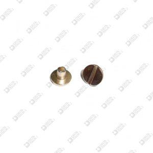 10900/4 BORCHIA 7,5X5 GAMBO L. 4 MM TAGLIO CACCIAVITE OTTTONE