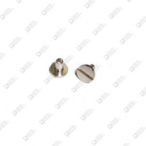 10900/5,5 BORCHIA 7,5X7 GAMBO L. 5,5 MM TAGLIO CACCIAVITE OTTONE