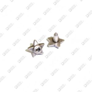 11068 STAR SHAPE ORNAMENT 8 MM WITH STRASS FOR RIVET HEAD ZAMAK