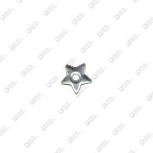 3536 BIG STAR SHAPE ORNAMENT HOLE 4 MM IRON