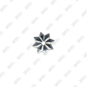 4034 SMOOTH STAR SHAP ORNAMENT 8 TIPS HOLE 4 MM IRON