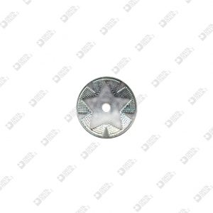 8159 ROUND ORNAMENTS WITH STAR D. 30 HOLE 4 MM IRON