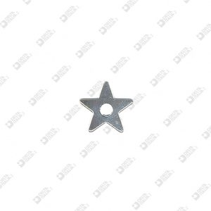 8162 FLAT STAR SHAPE ORNAMENT HOLE 4 MM IRON