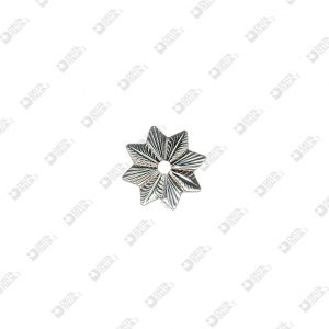 9164 STRIPED STAR SHAPE ORNAMENT 8 TIPS HOLE 4 MM IRON