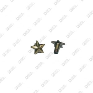 9210 STAR SHAPE ORNAMENT FOR RIVET HEAD 032 ZAMAK