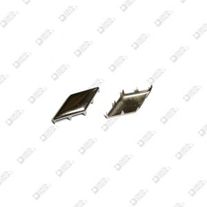 4082 RHOMBUS ORNAMENT WITH DENTICLES 28X12 MM IRON
