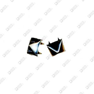 8383 PYRAMID ORNAMENT 12X12 MM WITH CLIPS BRASS