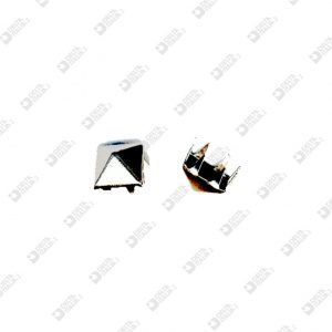 8384 PYRAMID ORNAMENT 10X10 MM WITH CLIPS BRASS
