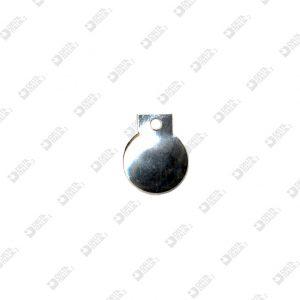 3831 BORCHIA TONDA D. 22 MM CON FORO FERRO