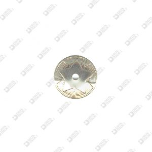 8159 BORCHIA TONDA STELLA D. 30 MM FORO 4 MM FERRO