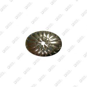 9184 BORCHIA OVALE 43X30 MM CON FORO FERRO