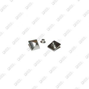 5538 PYRAMID ORNAMENT 12X12 MM ZAMAK