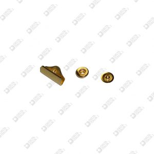 5052 BUTTON 3 PIECES FOR WALLET D. 9,5 MM BRASS