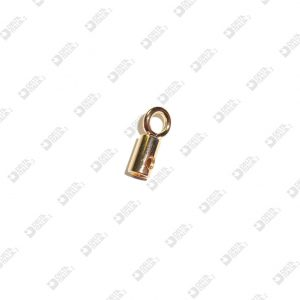 9950 CORD END 6X10 HOLE 4 M3 WITH WELDED RING 5X2 AND HEADLESS SCREW BRASS