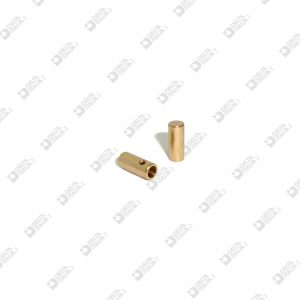 11496 CORD END 5X12 HOLE 3,5 THREAD M 2 WITH HEADLESS SCREW BRASS