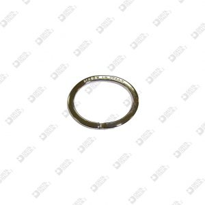 """11348/28 OVAL  BRISÉ RING 28X22 """"MADE IN ITALY"""" IRON"""
